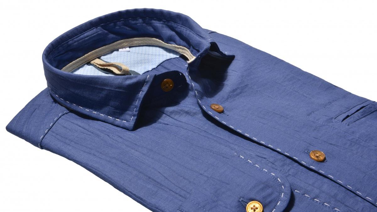 Tmavomodrá Extra Slim Fit Oxforská košeľa