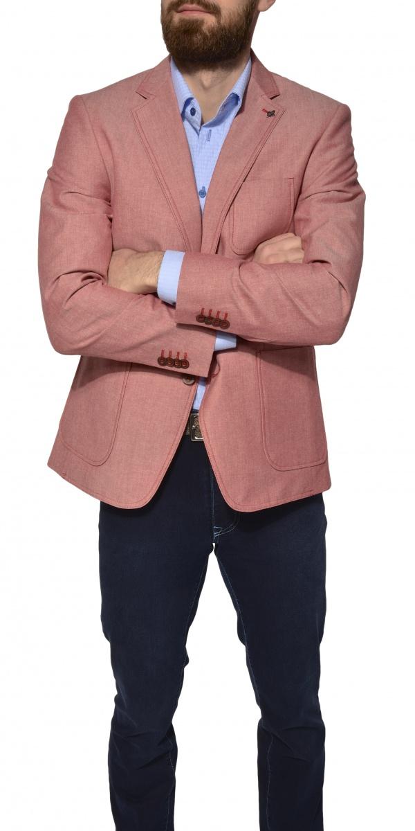 Pink cotton blazer