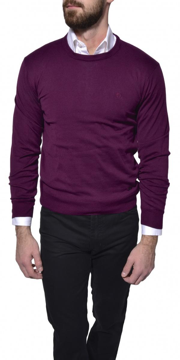 Purple cotton crewneck