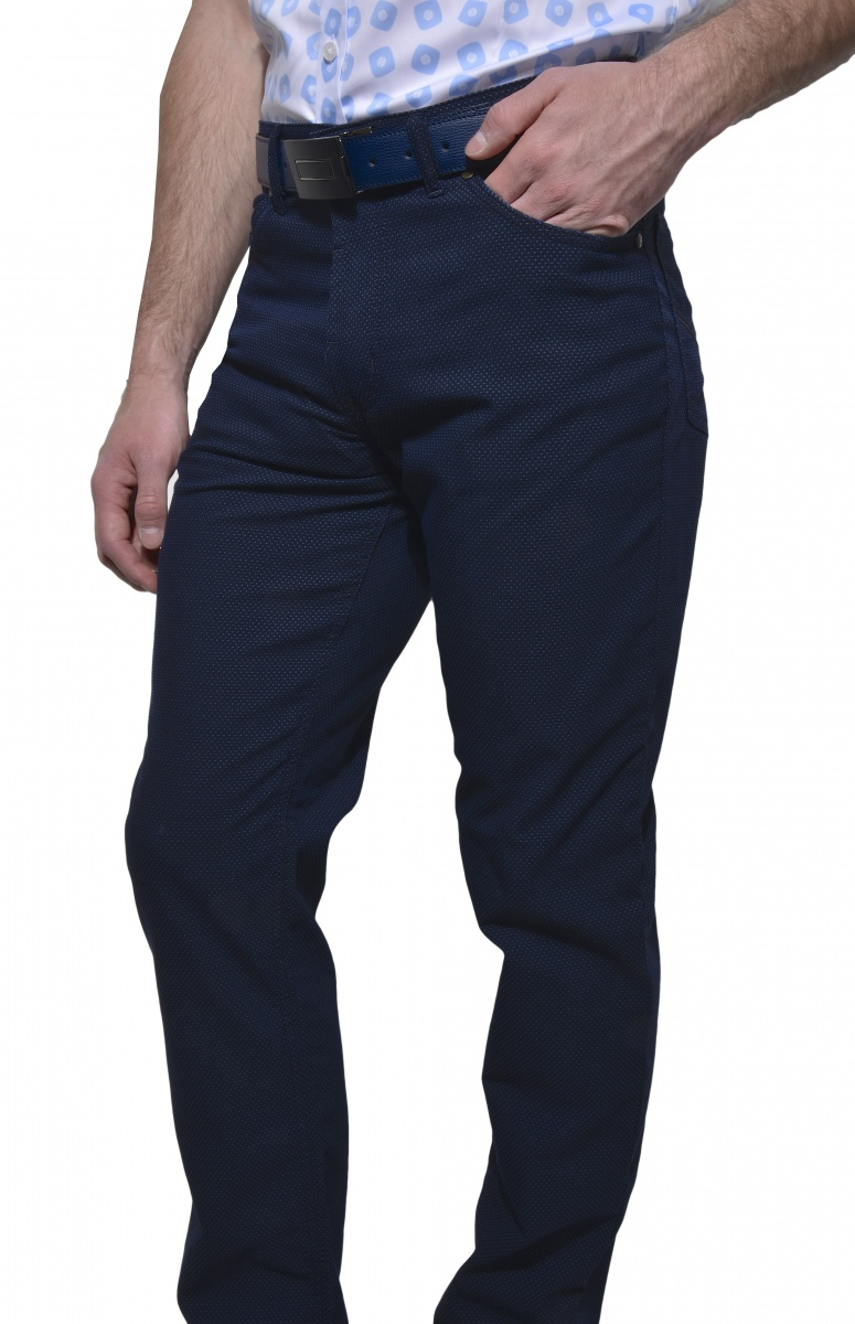 Tmavomodré voľnočasové nohavice