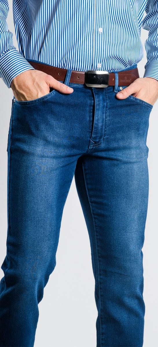 Modré Ultra Slim Fit džínsy