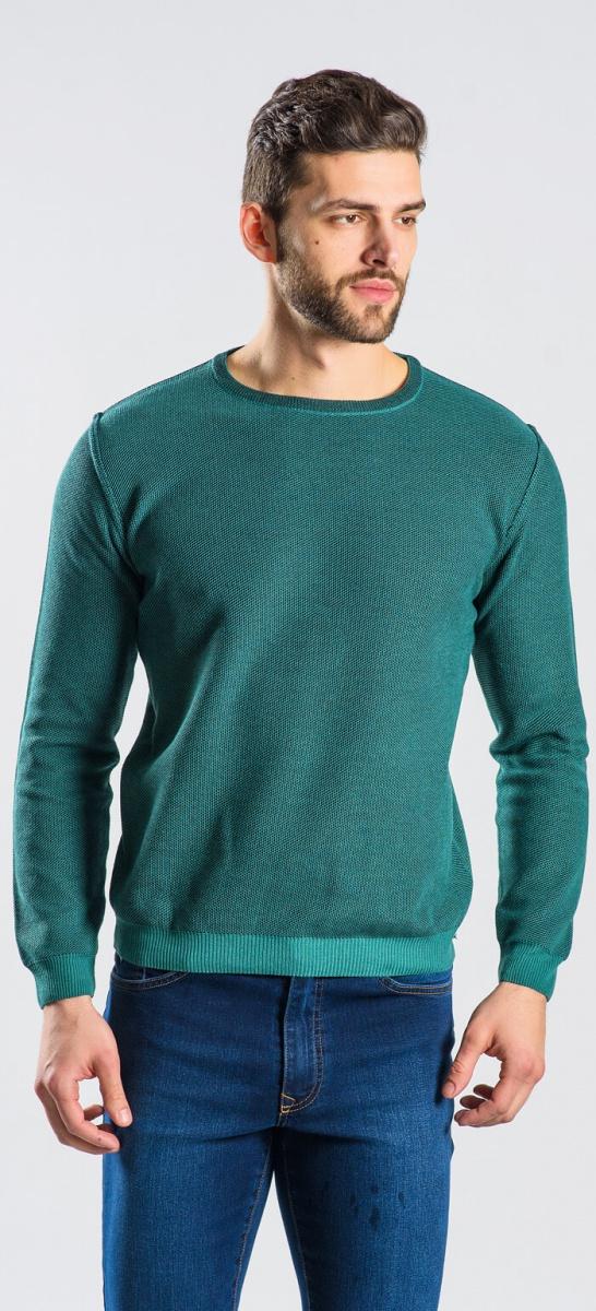 Green cotton crewneck