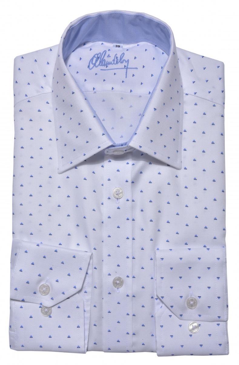 LIMITED EDITION biela vzorovaná Extra Slim Fit košeľa