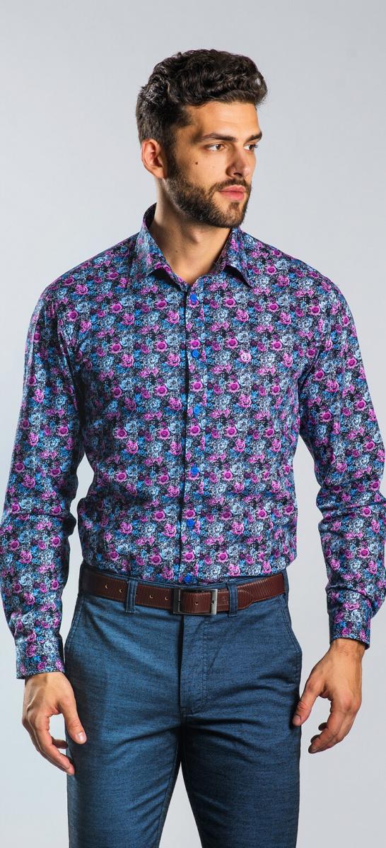 Bold blue Extra Slim Fit shirt