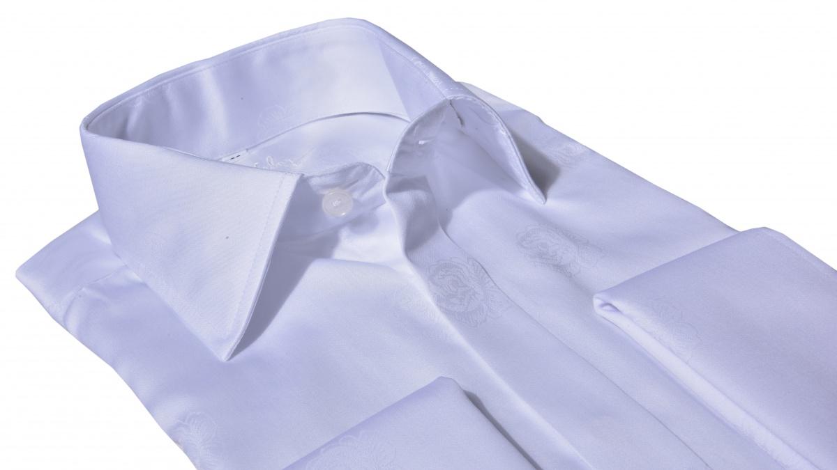 LUXURY LINE white formal Slim Fit shirt