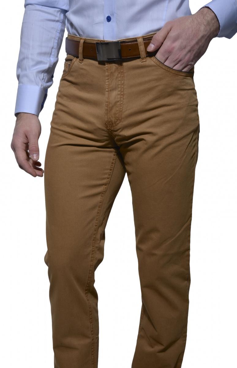 Hnedé voľnočasové nohavice