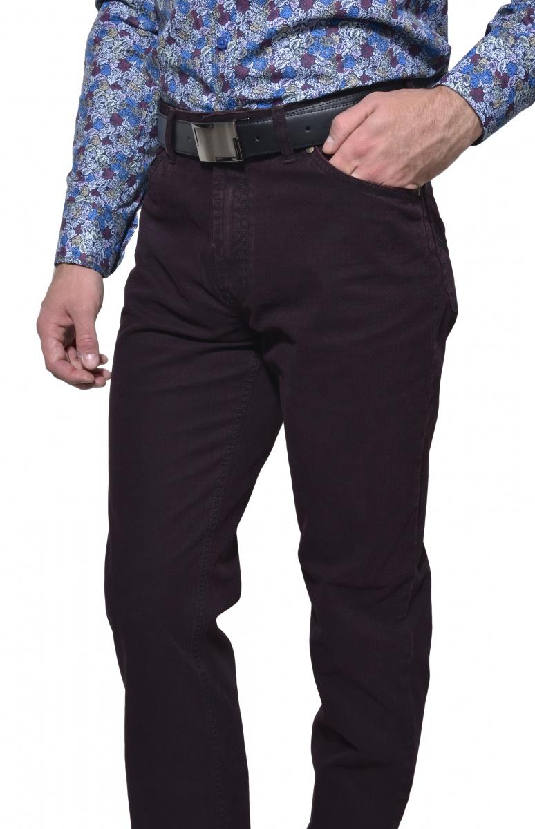 Bordové päťvreckové voľnočasové nohavice