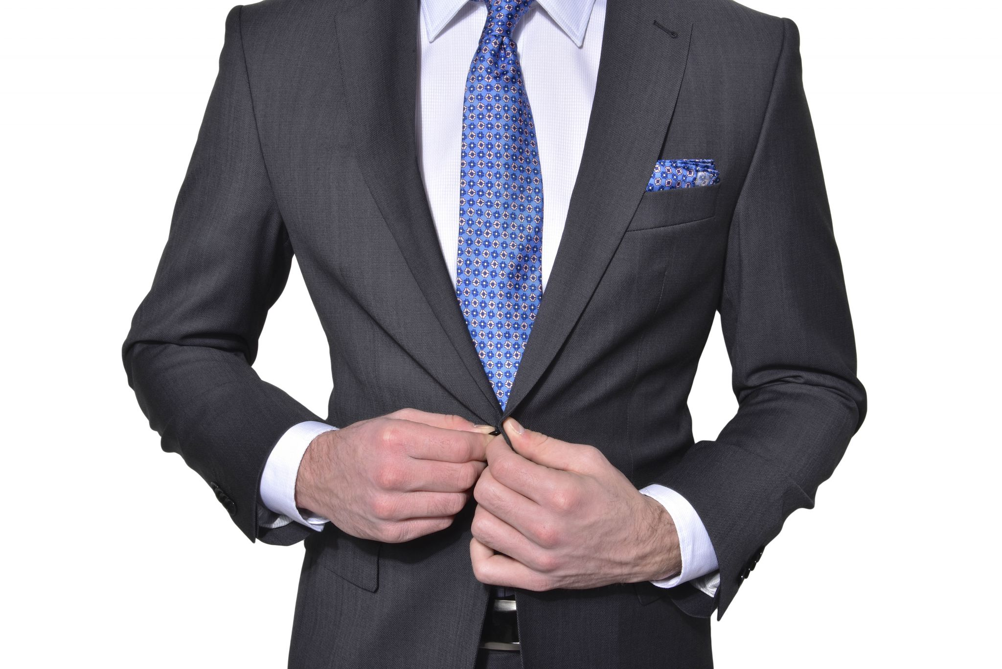 31485577d1 Šedý vlnený Slim Fit oblek - Obleky - E-shop
